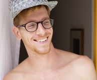 Portrait of a young red-haired man smiling Royalty Free Stock Image