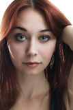 Portrait of young red-haired woman Royalty Free Stock Photos