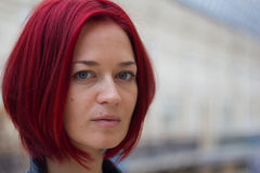 Portrait of a young redhaired woman Royalty Free Stock Photos