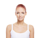Portrait of a young redhead Caucasian woman Royalty Free Stock Photography