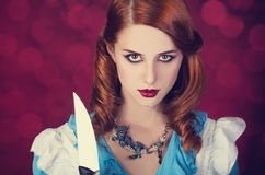 Portrait of a young redhead woman Royalty Free Stock Photos