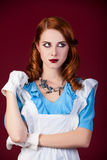 Portrait of a young redhead woman Royalty Free Stock Images