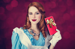 Portrait of a young redhead woman Royalty Free Stock Photo