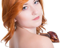 Portrait of young redhead woman Royalty Free Stock Photography