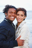 Portrait of young romantic couple Stock Photo