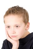 Portrait of young sad boy Royalty Free Stock Image