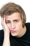 Portrait of young  sad man Royalty Free Stock Photography