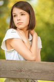 Portrait of young sad woman Royalty Free Stock Image