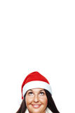Portrait of young santa woman thinking Royalty Free Stock Image