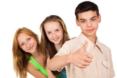 Portrait of young schoolchildren Royalty Free Stock Photo