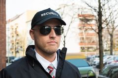Portrait Of Young Security Guard Royalty Free Stock Photography