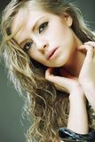 Portrait of young sensual blond woman Royalty Free Stock Photo