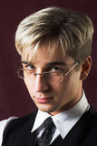 Portrait of a young serious businessman Royalty Free Stock Images