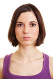 Portrait of young serious woman Royalty Free Stock Photography