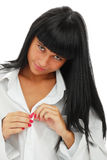 Portrait of the young sexual girl Stock Images