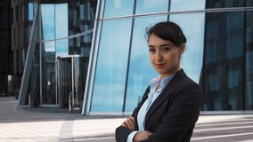 Portrait of Young Businesswoman stock video