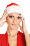 Portrait of young, female Santa Royalty Free Stock Image