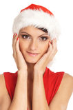 Portrait of young, sexy female Santa Royalty Free Stock Photography