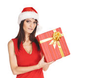 Portrait of young, female Santa Stock Image