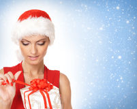 Portrait of a young and female Santa Royalty Free Stock Photography