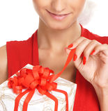 Portrait of a young, sexy female Santa Royalty Free Stock Photo