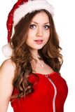 Portrait of young, sexy female Santa Stock Photos