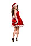 Portrait of young, female Santa Royalty Free Stock Photos
