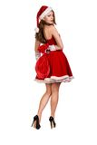 Portrait of young, sexy female Santa Royalty Free Stock Image