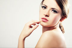 Portrait of a young sexy woman Stock Images