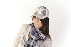 Portrait of young woman with hat Royalty Free Stock Image