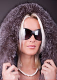 Portrait of young sexy woman with sunglasses Royalty Free Stock Images