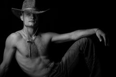 Portrait of a young shirtless male model Royalty Free Stock Photo