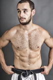 Portrait of young shirtless man  posing Royalty Free Stock Photo