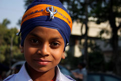 Portrait of a young sikh boy Royalty Free Stock Photography