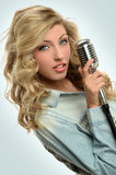 Portrait of Young Singer Stock Photography