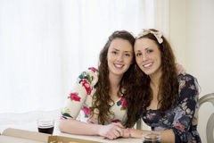 Portrait of young sisters Stock Photo