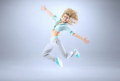 Portrait of a young slim athlete Royalty Free Stock Photography