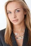 Portrait of young smart businesswoman Stock Photo