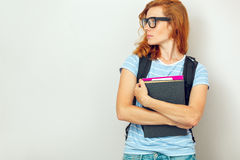 Portrait of Young smart student Stock Photo