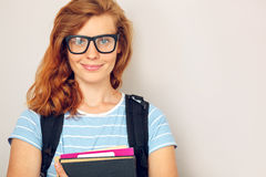 Portrait of Young smart student Royalty Free Stock Image