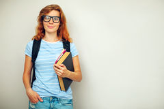 Portrait of Young smart student Stock Photography