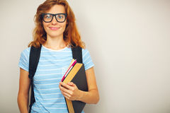 Portrait of Young smart student Stock Photos