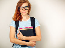 Portrait of Young smart student Royalty Free Stock Photos