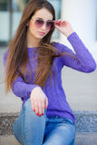 Portrait Of Young Smiling Beautiful Woman Royalty Free Stock Photos