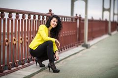 Portrait Of Young Smiling Beautiful Woman Royalty Free Stock Photo