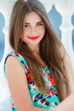 Portrait Of Young Smiling Beautiful Woman Stock Photos