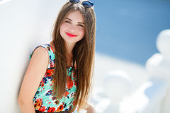 Portrait Of Young Smiling Beautiful Woman Stock Image