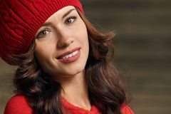 Beautiful woman in hat Royalty Free Stock Images