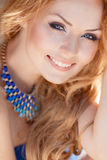 Portrait Of Young Smiling Beautiful Woman. Stock Image