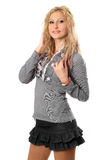 Portrait of young smiling blonde Stock Photography